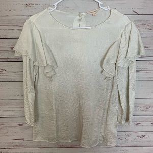Rebecca Taylor Textured 100% Silk Blouse Size 6 !